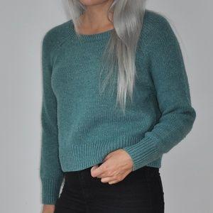 Banana Republic Blue Cropped Sweater